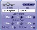 AirCompare Yahoo! Widget Скриншот 0