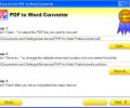 Easy-to-Use PDF to Word Converter Скриншот 0