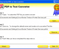 Easy-to-Use PDF to Text Converter Скриншот 0