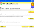 Easy-to-Use PDF to Excel Converter Скриншот 0