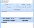 Validate Multiple Credit Card Numbers Software Скриншот 0