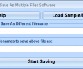 Open One File And Save As Multiple Files Software Скриншот 0